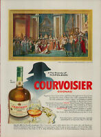 1955 Courvoisier Cognac Fine Champagne Brandy of Napoleon Vintage Print Ad 1877