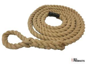 24mm Synthetic Hemp Gym Climbing Rope - Fitness - Training - Choose Length