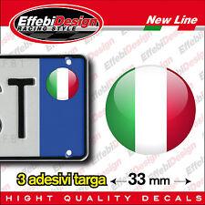 Adesivo Sticker Adesivi bollino targa/plate bandiera Italia Italy Auto Moto Tir