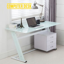 Glass Computer Desks with Drawers
