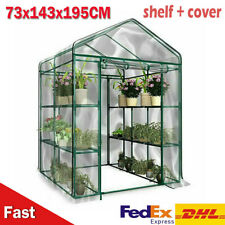 Walk In Greenhouse PVC Cover Removable Outdoor Garden Grow With Shelf Large
