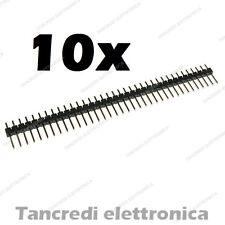 10 Connettore strip line 40 poli maschio L 6mm passo 2,54mm Arduino divisibile