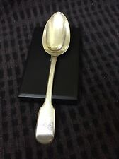 Antique Sterling Silver dessert Fiddle Spoon  London S H AND DADLY CATER 55g