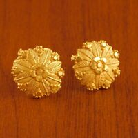 Indian Wedding Party Round Earring Goldplated Traditional Stud Fashion Jewelry