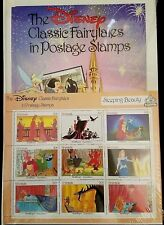 Vtg 1987 Disney Sleeping Beauty Classic Fairytales in Postage Stamps $2.70 Book