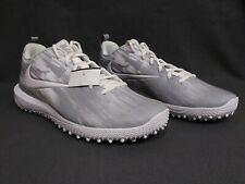 Nike Vapor Varsity Low Turf Lax Lacrosse Cleat Shoes White/Wolf Grey Men's Sz9.5