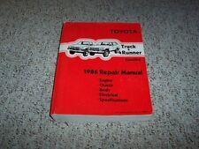 1986 Toyota Truck & 4Runner Factory Shop Service Repair Manual 4WD