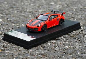 1/64 Scale Porsche 911 GT2 RS Orange Diecast Car Model Collection Toy Gift NIB