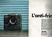 PUBLICITE ADVERTISING 025  1980  ROLLEI  appareil photo  ROLLEIFLEX  SL 35E (2p)