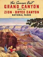 TRAVEL SUMMER GRAND CANYON NORTH RIM BRYCE NATIONAL PARK PRINT POSTER BB9808