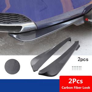 2Pcs Car Accessories Body Bumper Spoiler Rear Lip Splitter Diffuser Protector