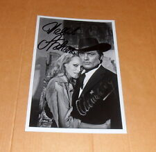 Ursula Andress & Alain Delon, original signed Photo 13x18 cm (5x7)