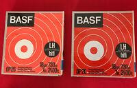 2 Tonbänder BASF Magnettonbänder im Schuber 18 cm Spulen OVO (NEU)  (438)