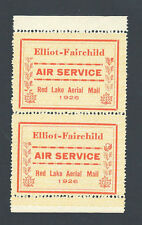 CANADA STAMPS SEMI-OFFICIAL AIR SERVICE PAIR TALL R VARIETY SC# CL8, 8a F-VF NH