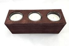 1-Stück Holz Teelichthalter Kerzenhalter Terrasse Balkon Weihnachten Dekoration