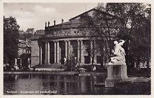 AK Stuttgart gel. 1931 Anlagensee mit Landestheater
