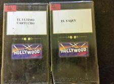 LOT OF 2 SPANISH VHS MOVIES. EL ULTIMO CARTUCHO, EL YAQUI. VHS.