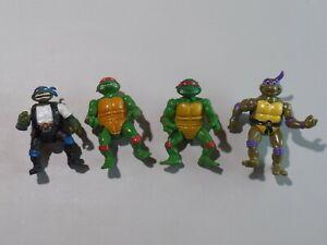 Vintage Lot of 4 Teenage Mutant Ninja Turtles Playmates Toys 1988, 1992