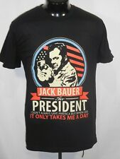 JACK BAUER FOR PRESIDENT MENS T SHIRT LARGE SHORT SLEEVE BLACK COTTON NWOTS