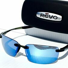 NEW* REVO DESCEND N Black w Blue POLARIZED Lens Sunglass 4059 01 BL