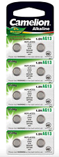 10 CAMELION AG13 A76 LR44 357 L1154 Button Cell Watch Battery With Long EXP Date