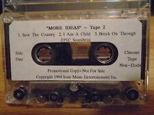 RARE PROMO More Ideas DEMO CASSETTE TAPE soundtrack Forrest Gump ? UNUSED 3 trax