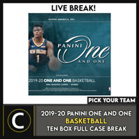 2019-20 PANINI ONE AND ONE  BASKETBALL 10 BOX CASE BREAK #B536 - PICK YOUR TEAM