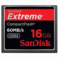 Orignal 16GB SanDisk Extreme 60MB/S CF CompactFlash tarjeta SDCFX - 016G f CANON