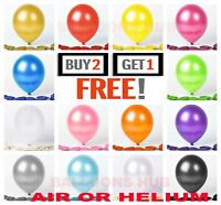 "20 X PEARL Metallic Balloons Range of 20 COLOURS in 12"" SIZES Party Decorations"