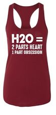 Ladies H20 2 Part Water 1 Part Heart Racerback Swim Ocean Snorkel Scuba Dive