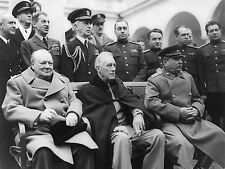 PRINT POSTER VINTAGE PHOTO WAR WWII TEHRAN ROOSEVELT CHURCHILL STALIN NOFL0477