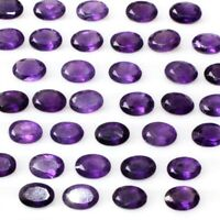 Wholesale Lot 6x4mm 7x5mm 8x6mm Oval Facet African Amethyst Loose Calibrated Gem