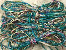 hand dyed cord 5 yds sari silk pastels fair trade trim kumihimo jewelry beading