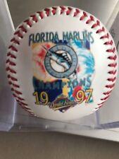 RARE 1997 World Series Champs Florida Marlins Fotoball Baseball