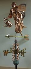 Large 3D Garden Fairy Copper weathervane, As Shown.No Roof Mount.