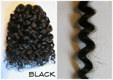 """1 oz Reborn Baby Rooting BLACK ethnic Curly Human Hair blend weft 48"""" w & 9"""" L"""