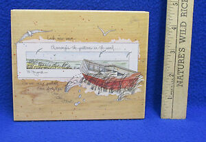 Boat Scene Stamp for Crafts D Morgan Inspiring Quote Stamps Happen, Inc.