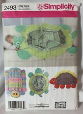 2010 Simplicity 2493 Rag Quilts Sewing Pattern Uncut Dinosaur Turtle Caterpillar