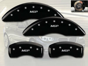 2006-2010 BMW 550i 650i Front + Rear Black MGP Brake Disc Caliper Covers 4pc Set