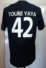MANCHESTER CITY 2010/11 S/S AWAY SHIRT TOURE YAYA 42 BY UMBRO SIZE 42 INCH CHEST