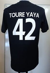 MANCHESTER CITY 2010/11 S/S AWAY SHIRT TOURE YAYA 42 BY UMBRO SIZE 40 INCH CHEST