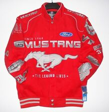 Size L Authentic Ford Mustang  Racing Cotton  Red Embroidered Jacket L
