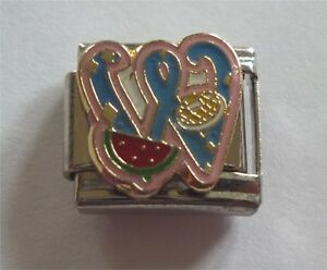 Italian Charms Letter Alphabet Letters W for Watermelon