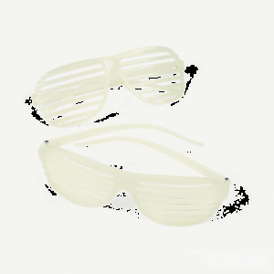 Full Shutter Glasses 80s Sunglasses Club Party CLEAR FROSTED shuttershades