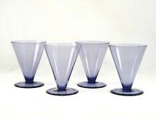 4 Calvin Klein Khaki Lavender Goblets Glasses Mint & Signed!