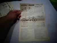 1 Feuillet 1937 Ancienne Bicyclette Tandem  FULGOR Ancien Vélo Vintage Bicycle