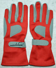 Mario Andretti - Autographed - Signed Red Racing Gloves Pair with Photo Proof