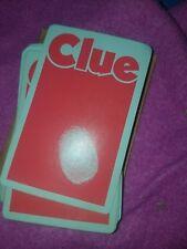 Vintage 1972 Clue Board Game Parts Complete Card Set & Envelope No.45