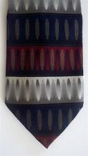 "Generic Men's Geometric Neck Tie Silk Red Burgundy Classic 3 3/4"" x 61"""