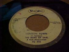 "Doo Wop R&B promo Vee Jay 45 Gene Chandler The Duke of Earl ""London town"""